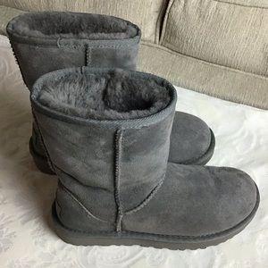 UGG | Grey Sheepskin Classic Short Boots